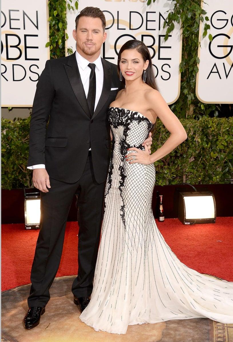 Channing Tatum and Jenna Dewan-Tatum - 71st Annual Golden Globe Awards in Beverly Hills, California, January 12, 2013