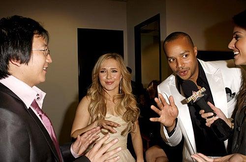 Masi Oka, Hayden Panettiere, Donald Faison and Maria Menounos - 6th Annual GM Ten - Backstage - Feb. 2007