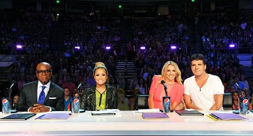 The X Factor - Season 2 - L.A. Reid, Demi Lovato, Britney Spears and Simon Cowell