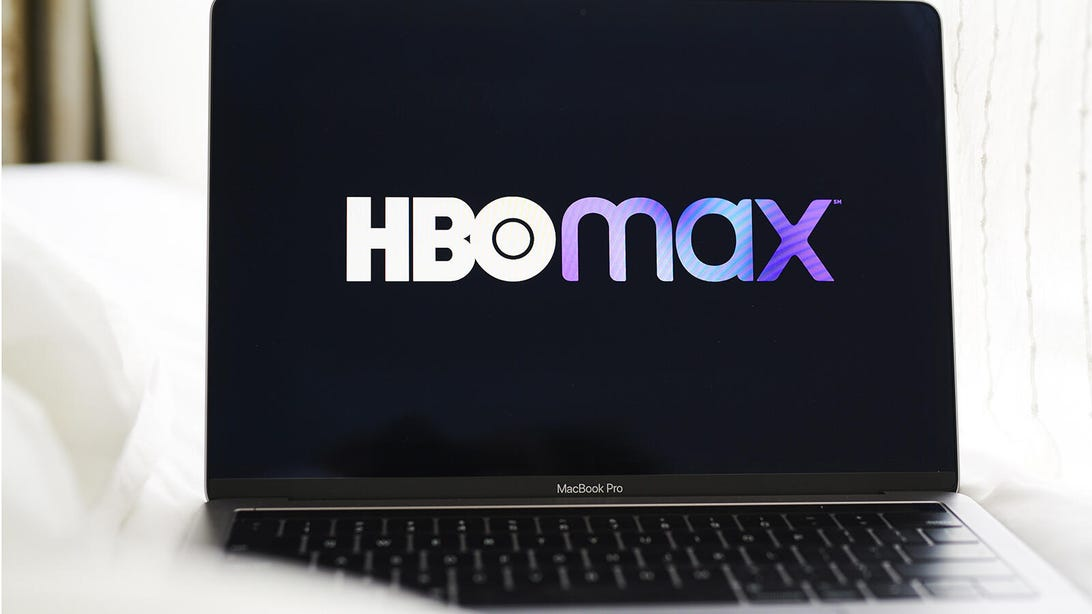 HBO Max on a laptop