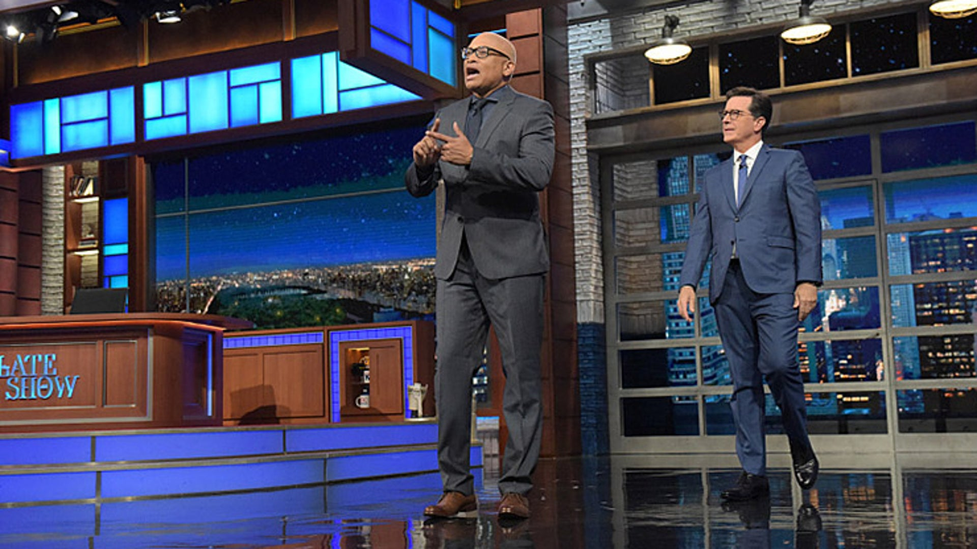Larry Wilmore and Stephen Colbert, The Late Show
