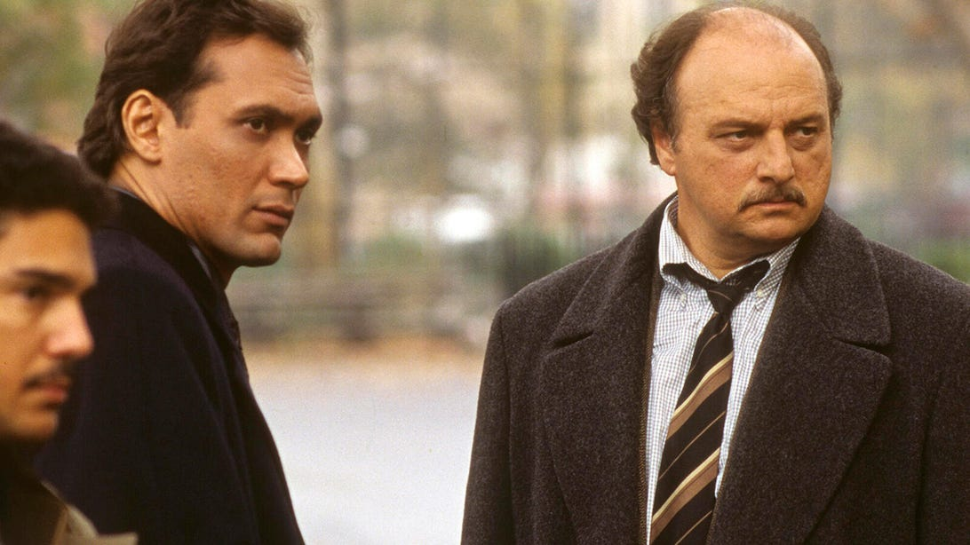 Jimmy Smits and Dennis Franz, NYPD Blue