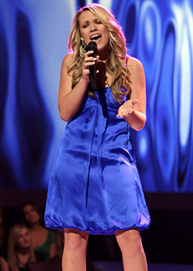 American Idol - Season 7 - Alaina Whitacker performs in front of the judges