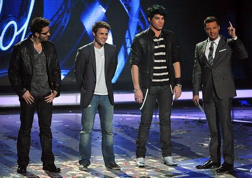 American Idol - Season 8 - Danny Gokey, Kris Allen, Adam Lambert and Ryan Seacrest