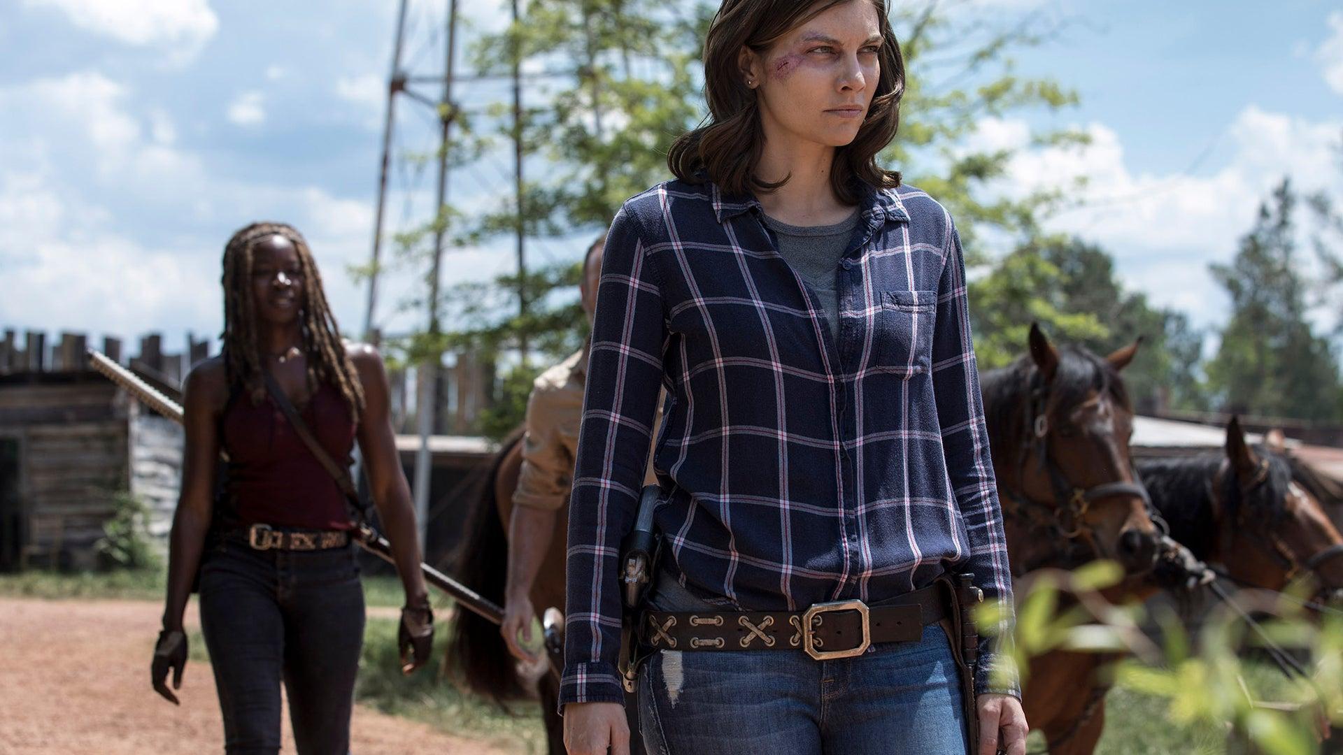 Danai Gurira and Lauren Cohan, The Walking Dead