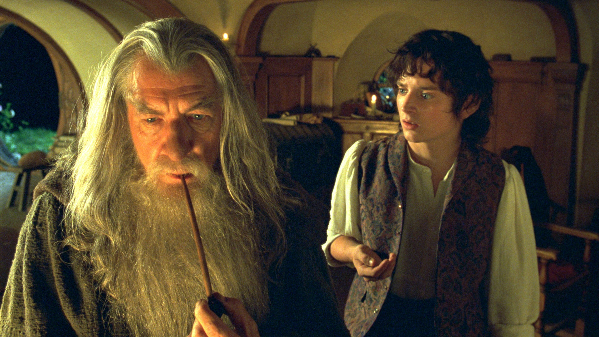 Ian McKellen and Elijah Wood, The Lord of the Rings: The Fellowship of the Ring