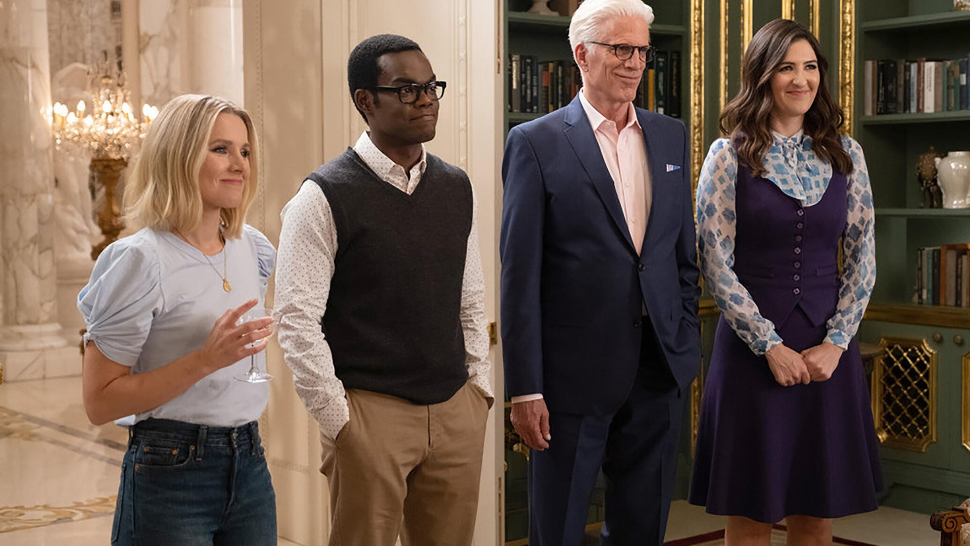 Kristen Bell, William Jackson Harper, Ted Danson, D'Arcy Carden, The Good Place