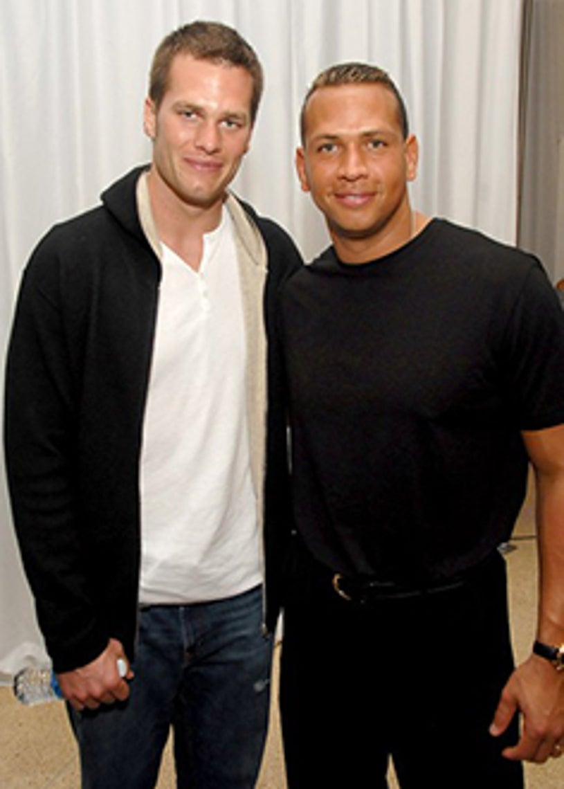 Tom Brady and Alex Rodriguez - Maxim Magazine's Super Bowl XLI Party - Miami Beach, FL - Feb. 2, 2007