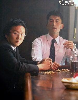 "Heroes - Season 3 - ""Angels and Demons"" - Masi Oka as Hiro and James Kyson Lee as Ando"