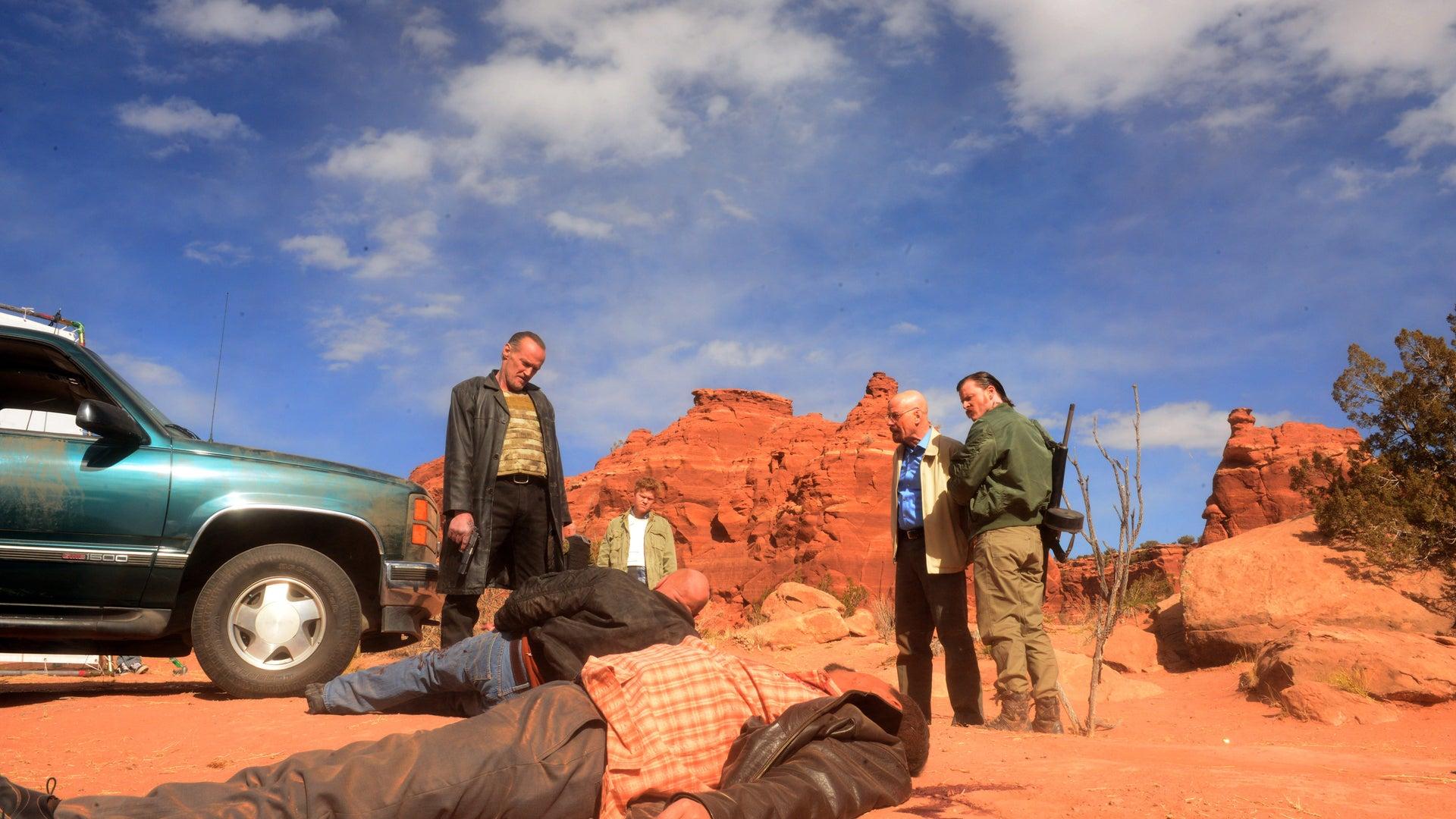 Michael Bowen, Jesse Plemons, Dean Norris, Steven Michael Quezada, and Bryan Cranston, Breaking Bad