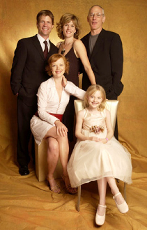 Joel Gretsch, Catherine Dent, Les Bohem, Emily Bergl and Dakota Fanning -2003 Television Critics Association Portraits