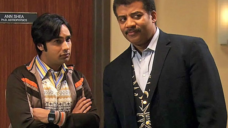 Kunal Nayyar and Neil deGrasse Tyson, The Big Bang Theory