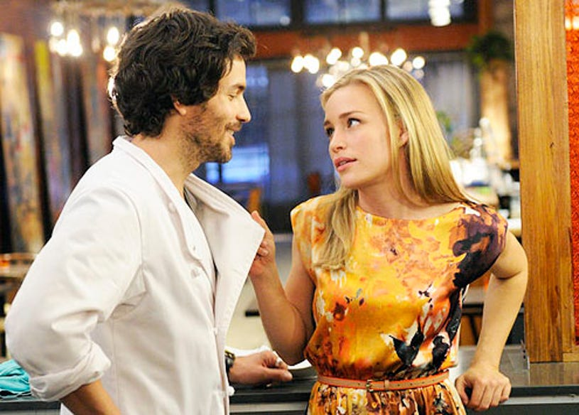 """Covert Affairs - Season 2 - """"The Wake Up Bomb"""" - Santiago Cabrera and Piper Perabo as Annie Walker"""