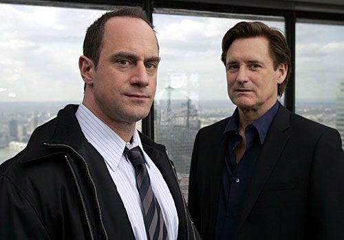 "Law & Order: SVU - Season 9 - ""Closet"" - Christopher Meloni as Detective Elliot Stabler and Bill Pullman as Kurt Foss"