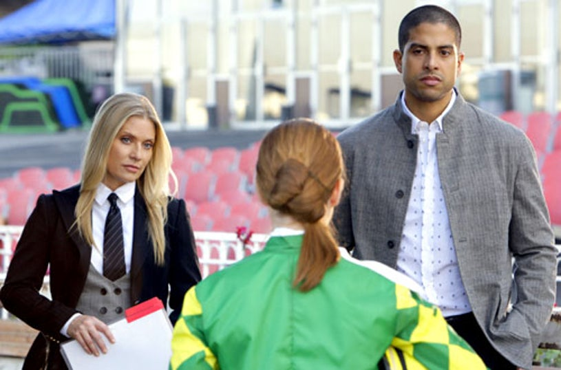 """CSI: Miami - Season 7, """"And They're Offed"""" - Emily Procter as Calleigh Duquesne, Adam Rodriguez as Eric Delko"""