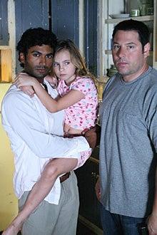 "Heroes - Season 2 - ""Kindred"" -  Sendhil Ramamurthy as ""Mohinder Suresh"", Adair Tishler as ""Molly"", Greg Grunberg as ""Matt Parkman"""