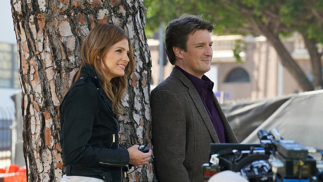 Stana Katic and Nathan Fillion, Castle