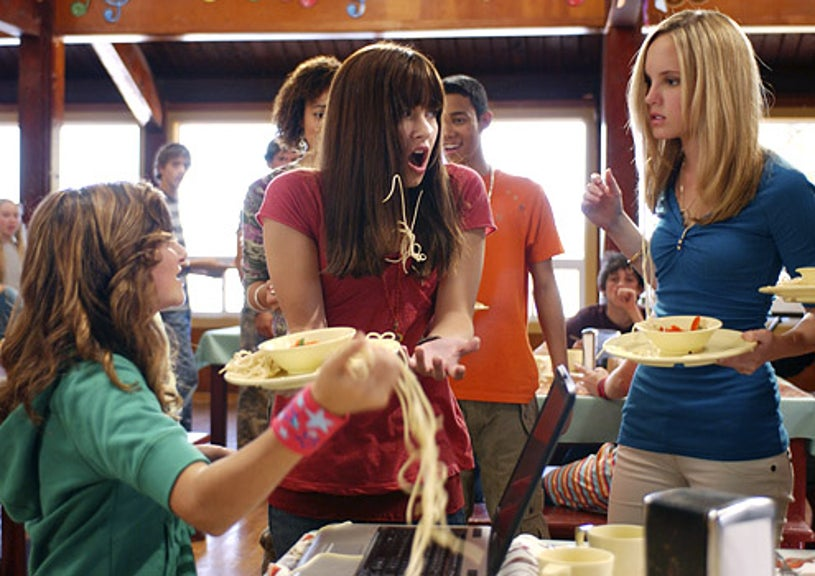 Camp Rock - Alyson Stoner as Caitlyn, Demi Lovato as Mitchie and Meaghan Jette Martin as Tess