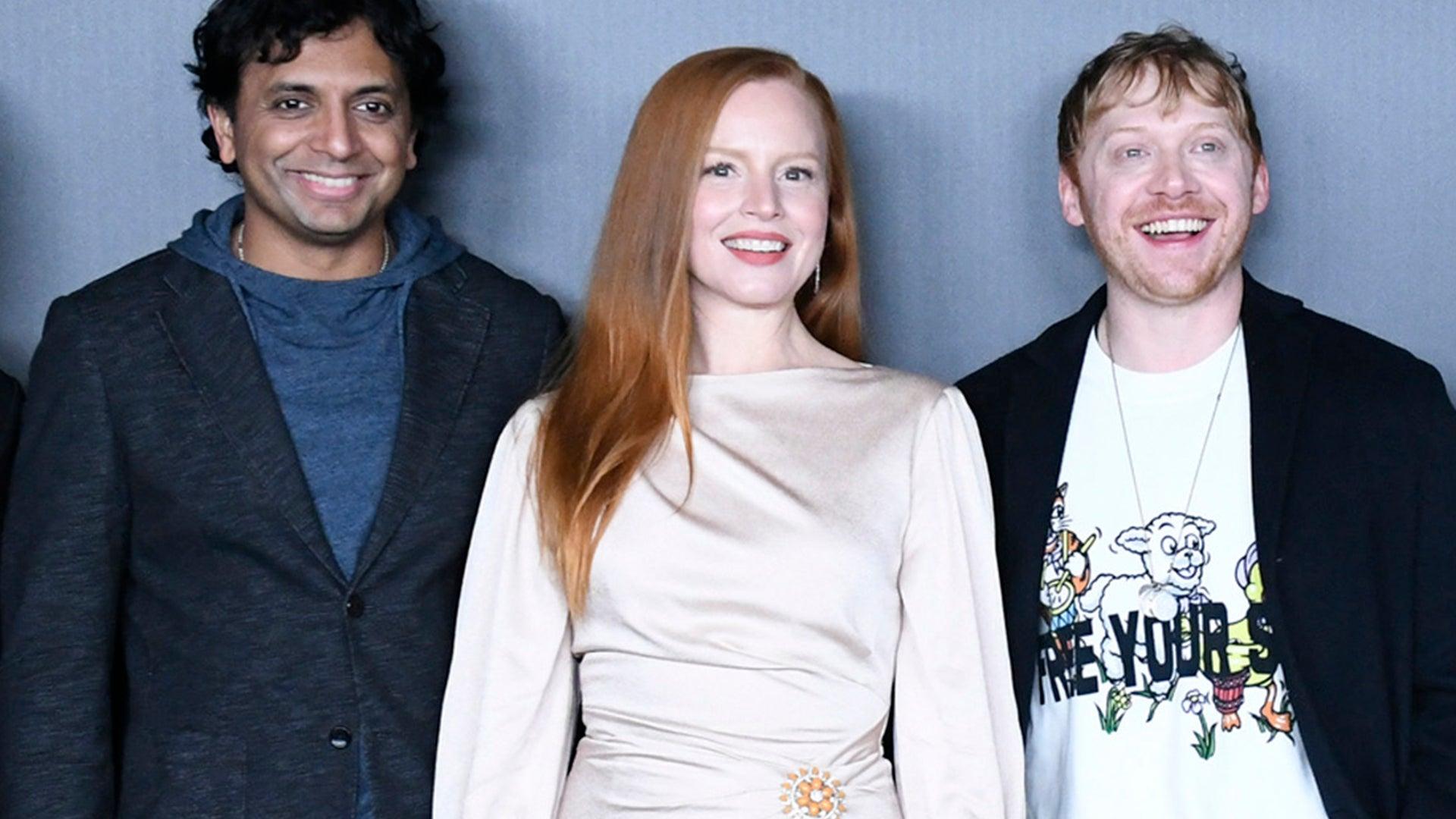 M. Night Shyamalan, Lauren Ambrose, and Rupert Grint