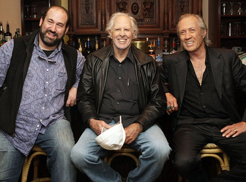 """Director Daniel Adams, Bruce Dern and David Carradine - attend """"The Golden Boys"""" photo call at The Playwright Tavern, New York City, April 9, 2009"""
