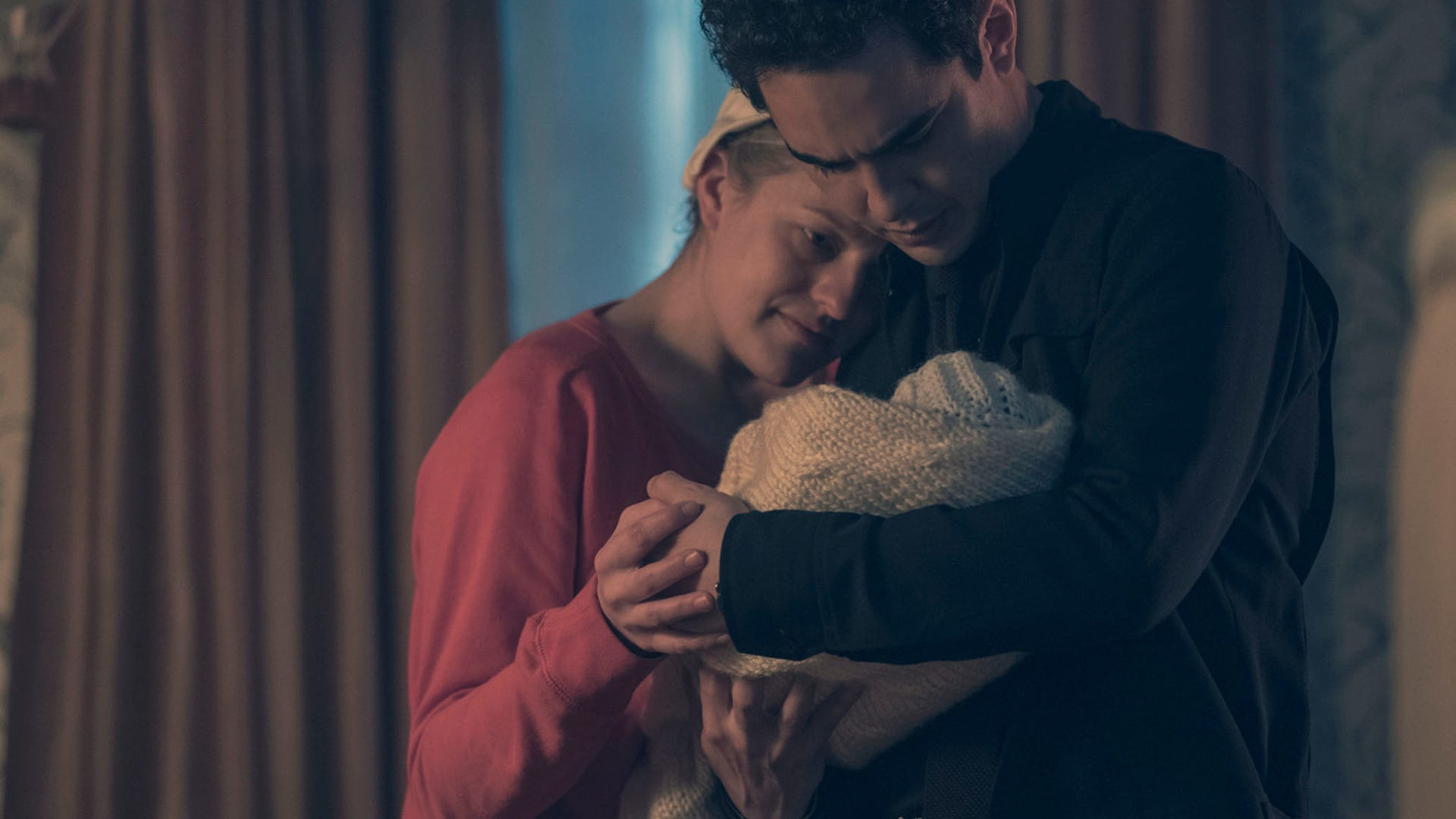 Elisabeth Moss) and Max Minghella, The Handmaid's Tale