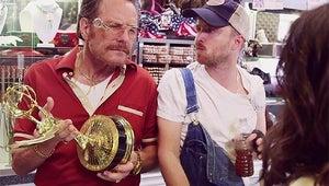 Top Videos: Aaron Paul, Bryan Cranston and Julia Louis-Dreyfus' Hilarious Emmy Promo