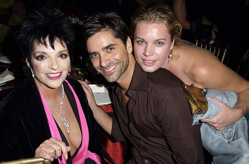 Liza Minnelli, John Stamos and Rebecca Romijn - Liza Minnelli Celebrates the Launch of her L!ZA for M.A.C Makeup Collection in New York City, September 18, 2003
