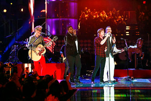 "The Voice - Season 3 - ""Live Results Show"" - Trevin Hunte, Nicholas David and Matchbox 20"