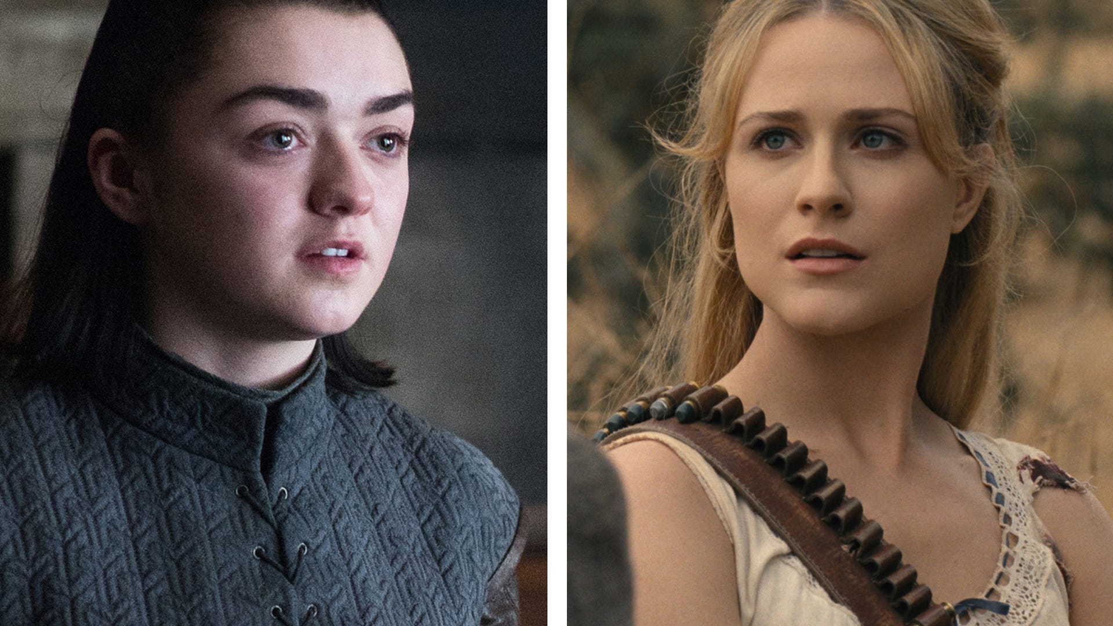 Maisie Williams, Game of Thrones, Evan Rachel Wood, Westworld