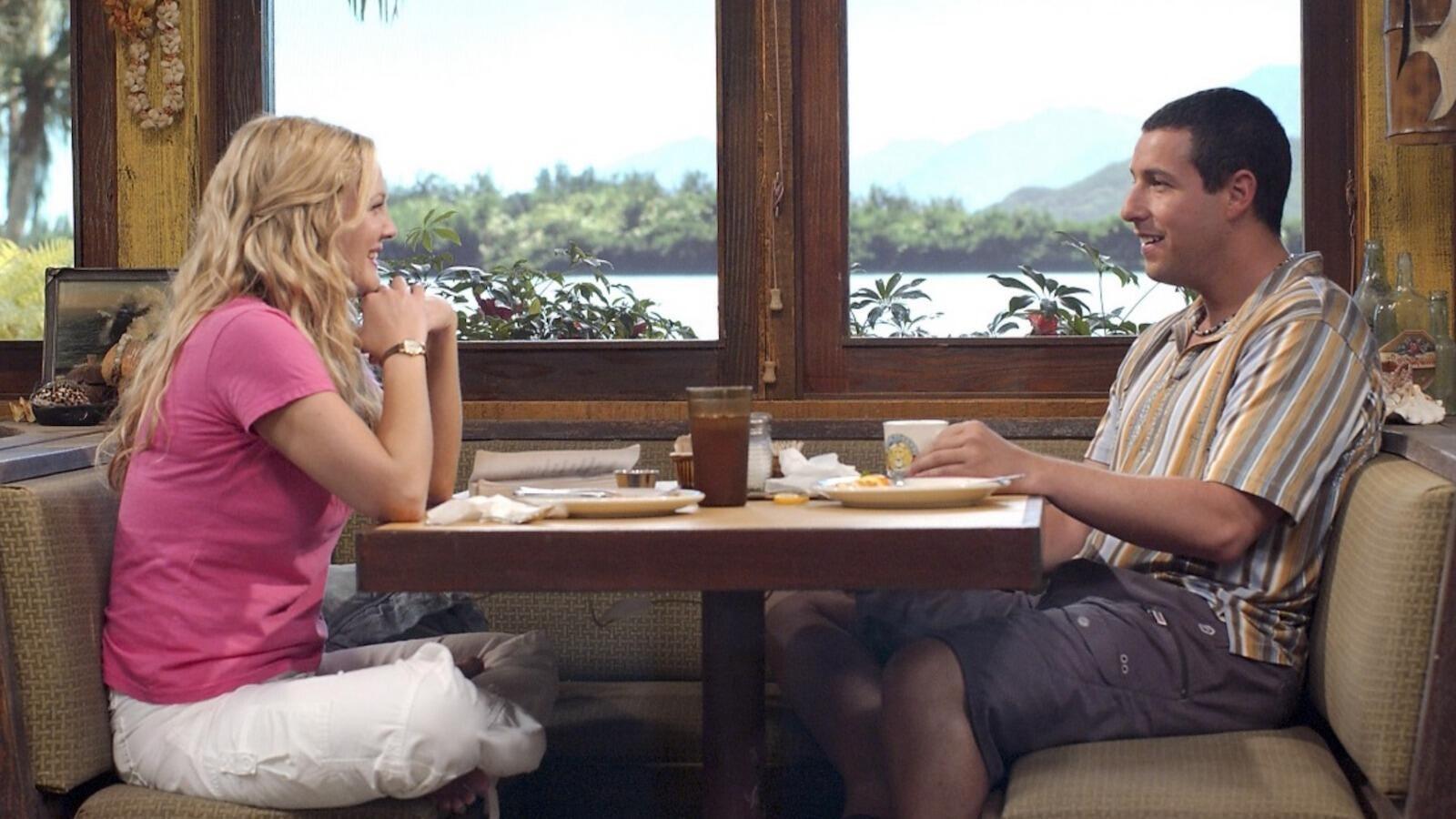 Drew Barrymore and Adam Sandler, 50 First Dates