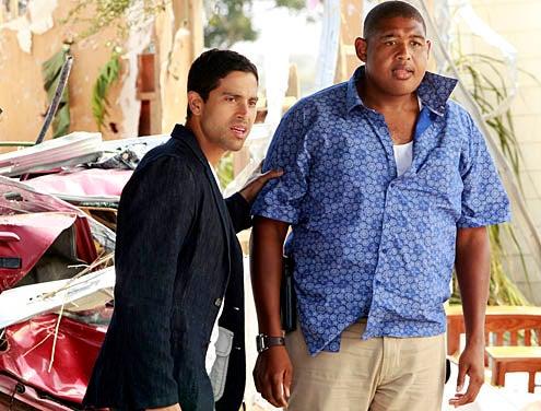 "CSI: Miami - Season 10 - ""Blown Away"" - Adam Rodriguez as Eric Delko and Omar Miller as Walter Simmons"