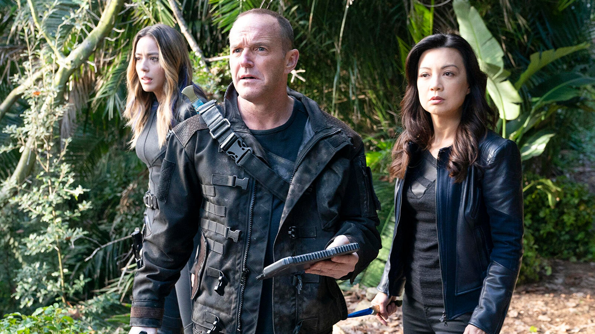 Chloe Bennet, Clark Gregg, and Ming-Na- Wen, Agents of S.H.I.E.L.D.