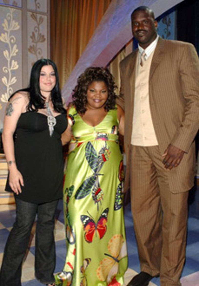 """Mia Tyler, Mo'nique, and Shaquille O'Neal  - """"Mo'Nique's Fat Chance"""" - Los Angeles, CA - July 13, 2005"""