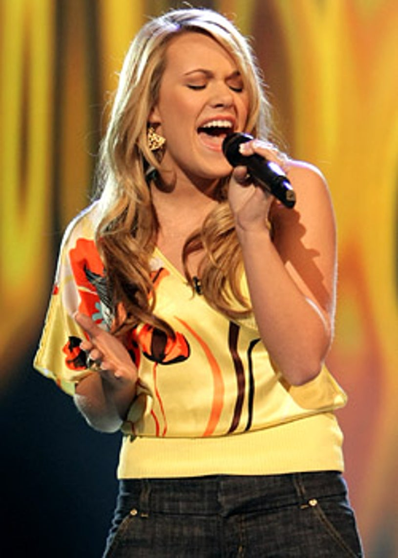 American Idol - Season 7 - Alaina Whitaker performs in front of the Judges