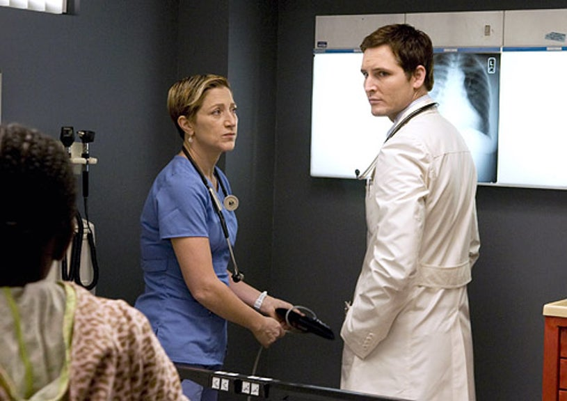 Nurse Jackie - Edie Falco as Jackie O'Hurley and Peter Facinelli as Dr. Cooper