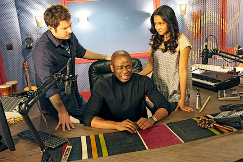 "Psych - Season 7 - ""Dead Air"" - James Roday, Dule Hill and Parminder Nagra"