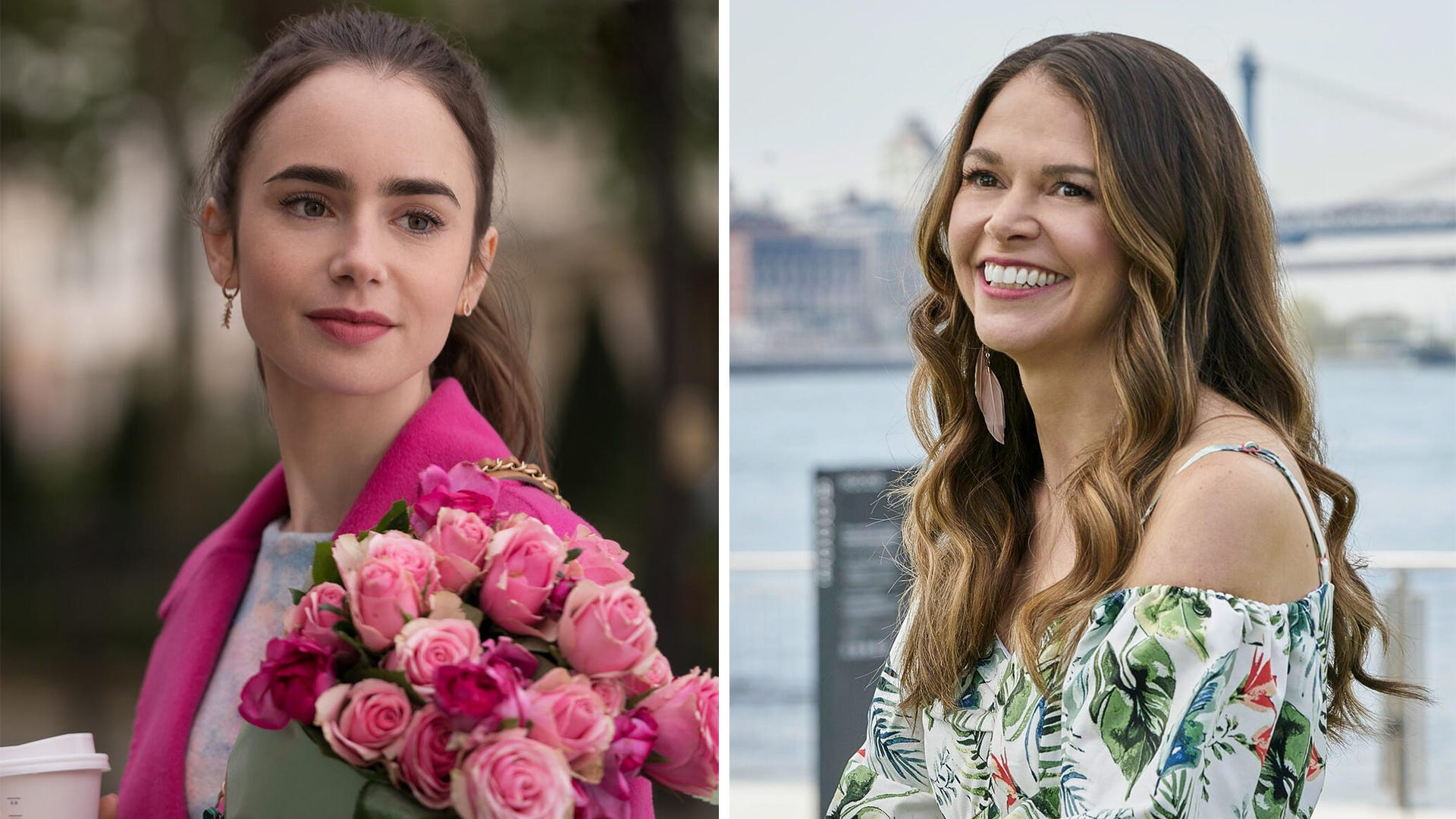 Lily Collins, Emily in Paris; Sutton Foster, Younger