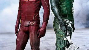 On the Set: The Flash and Arrow Face Off In an Epic Superhero Crossover