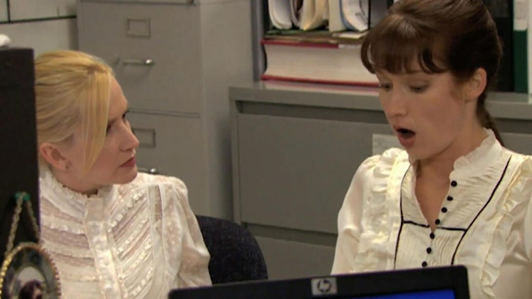 Angela Kinsey and Ellie Kemper, The Office