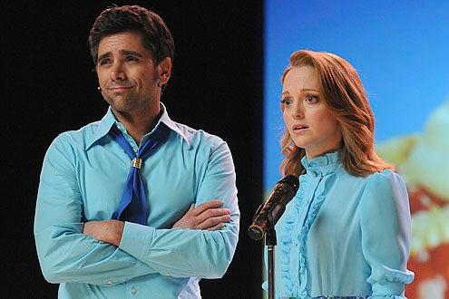 "Glee - Season 2 - ""Sexy"" - Guest star John Stamos as Carl and Jayma Mays as Emma"