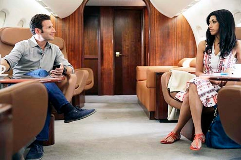 "Royal Pains - Season 6 - ""Hankmed on the Half Shell"" - Mark Feuerstein and Reshma Shetty"