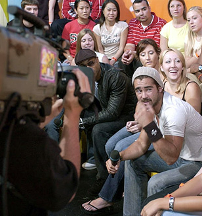 LL Cool J and Colin Farrell - MTV's TRL