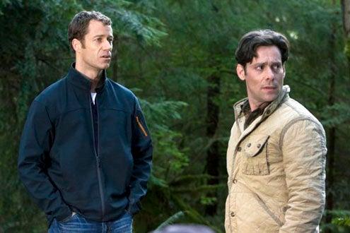 """Eureka - Season 4 - """"Momstrosity"""" - Colin Ferguson and James Callis"""