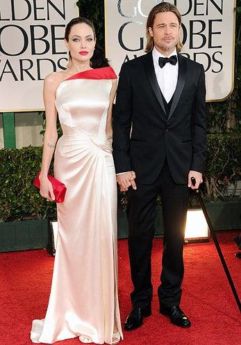 Angelina Jolie and Brad Pitt - The 69th Annual Golden Globe Awards, January 15, 2012