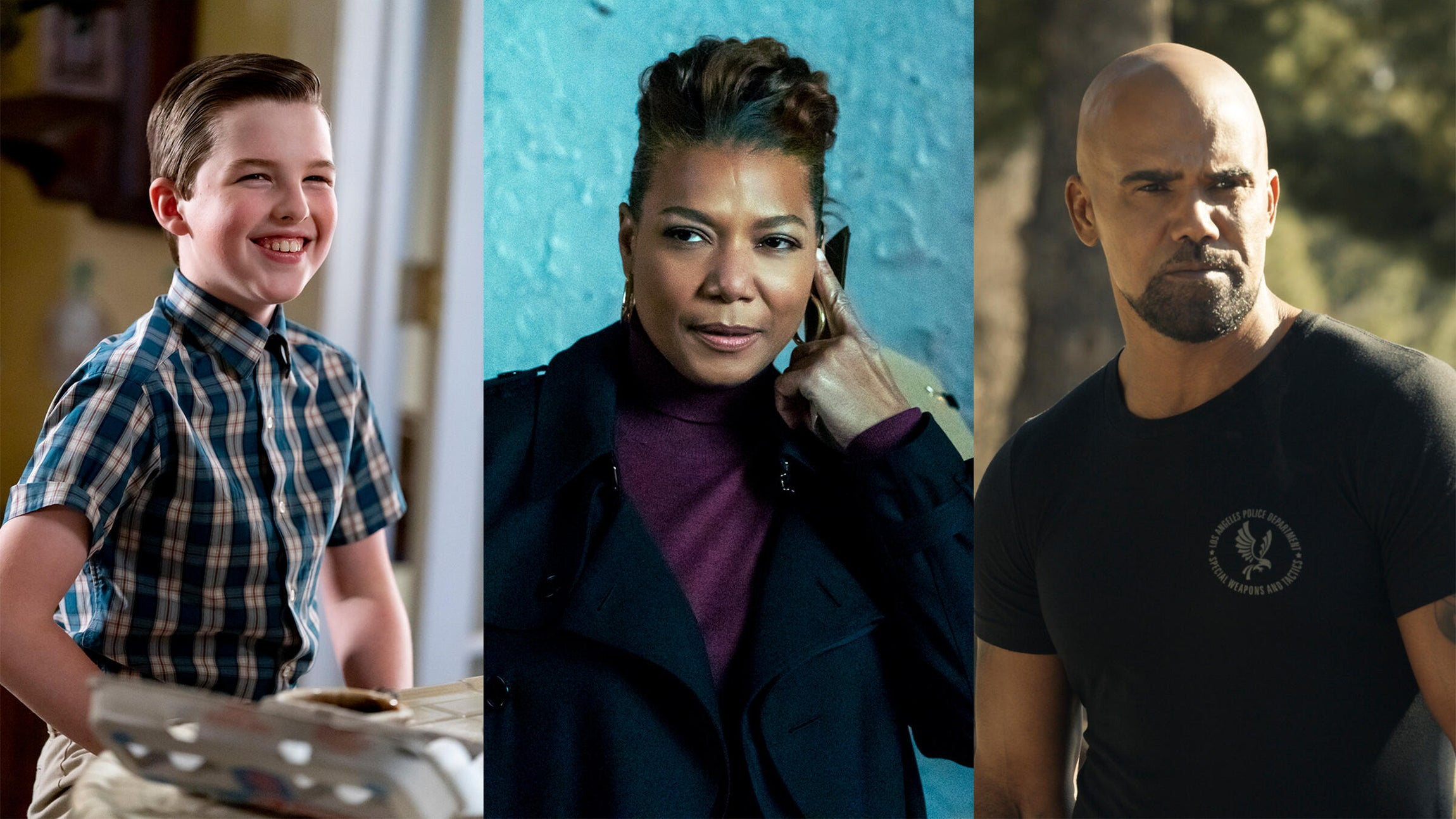 Iain Armitage, Young Sheldon/ Queen Latifah, The Equalizer/ Shemar Moore, S.W.A.T.
