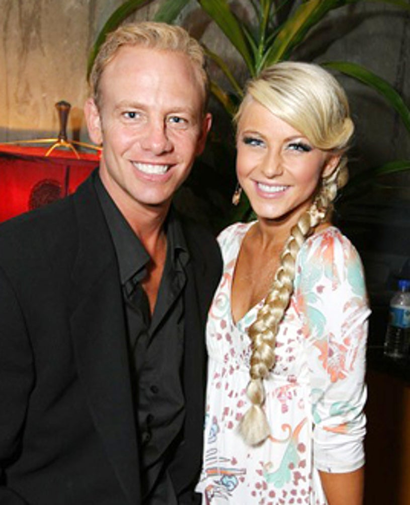 Ian Ziering and Julianne Hough - Apolo Ohno's Birthday Party, May 2007