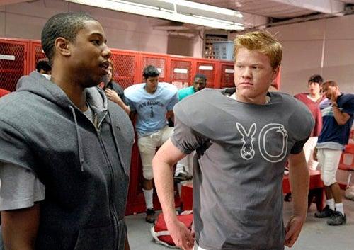 """Friday Night Lights - Season 4 - """"In The Skin of a Lion"""" - Michael B. Jordan as Vince Howard, Jesse Plemons as Landry Clarke"""