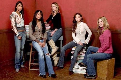 "Jordana Brewster, Meagan Good, Sara Foster, Devon Aoki and Jill Ritchie - The 2004 Sundance Film Festival ""D.E.B.S"" portraits, January 21, 2004"