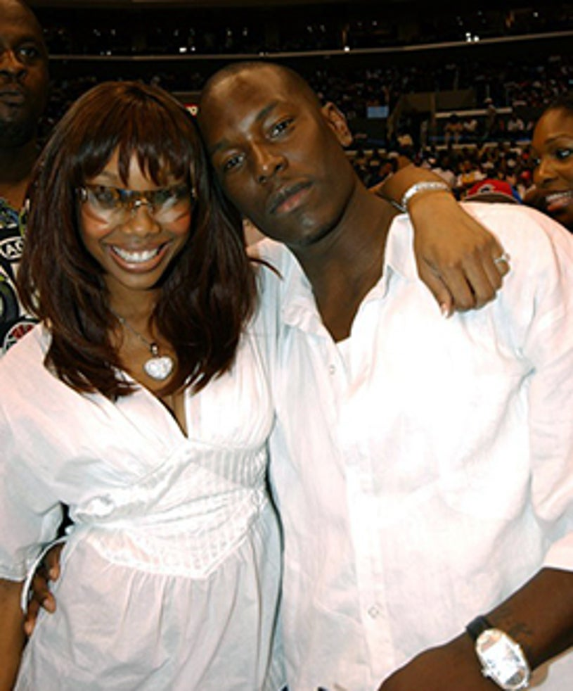 """Brandy and Tyrese - """"A Midsummer Night's Magic"""" Charity Basketball Game, July 27, 2003"""