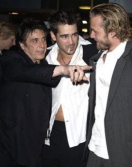 "Al Pacino, Colin Farrell and Gabriel Macht - ""The Recruit"" premiere, January 28, 2003"